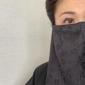 黒子マスクを今日の邦楽ライブで着用しました。