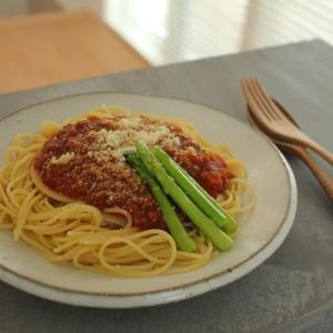 ミートソーススパゲッティ と なにしてるん?