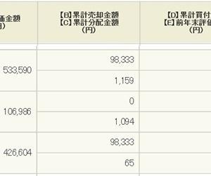 【運用実績】 積立投資信託 (2018年)