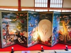 旧三井家へ樹花鳥獣図屏風を見に行ってきました(>u