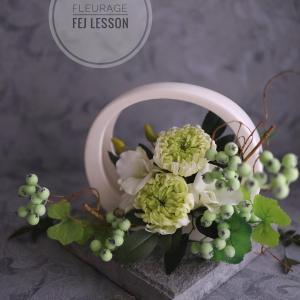 インテリア性の高いお供え花♪FEJプリザーブドフラワー仏花コース
