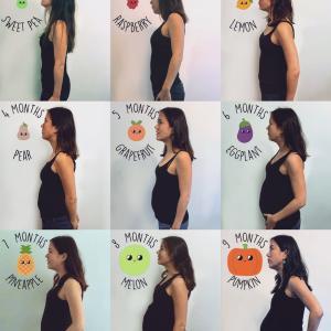 月々の妊娠記録