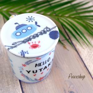 ポーセラーツ★CUTEなマグカップを制作して戴きました♪