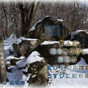 「軽井沢の万葉歌碑」