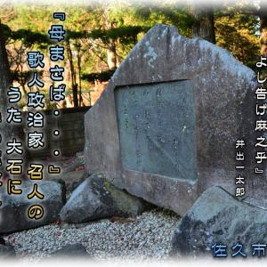 「佐久市 貞祥寺の歌碑-2」