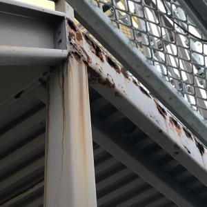 鉄部サビ欠損はパテで対応 溶接はしない