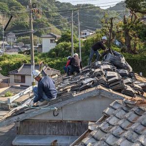 長崎の空き家解体始まりました