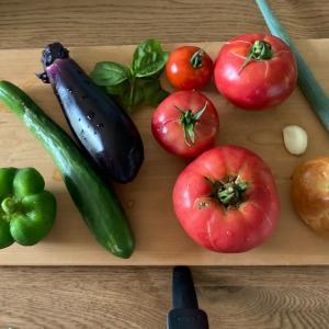 夏野菜大豊作でガスパチョ3分クッキングしようとしたけど6分クッキングになったの巻