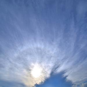 荒れ狂う太陽周辺の空とアーク  No.7358