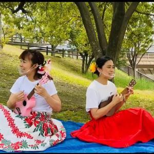 外で歌うって気持ちいい!【大阪・吹田市・江坂】フラ&タヒチアンダンス教室