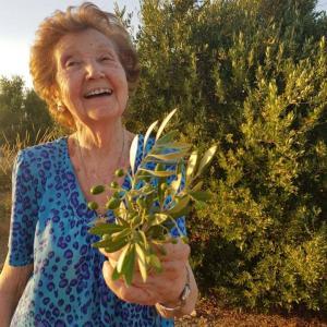 オリーブ農園の女性オーナー