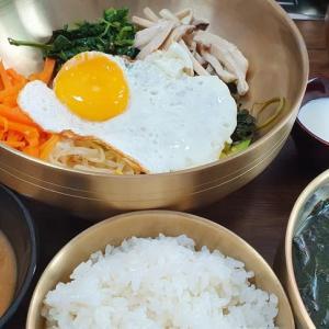 釜山市役所近くの美味しい店 山菜ビビンバ プヨンダン