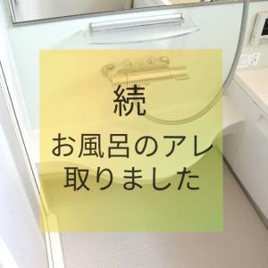 続・お風呂場のアレを取りました