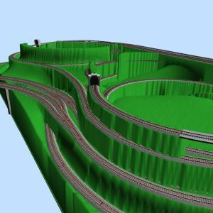 支線周回線と駅ループ線Aの交差部検討