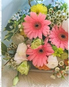 先生へ花束☆エレクトーンの発表会