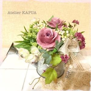 ご結婚祝い☆ちょっぴりシックなピンクのアーティフィシャルアレンジ♪