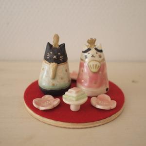 ネコ雛人形