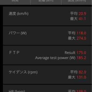 3/28(土) FTPテスト 3/29(日) ローラー練、20分走