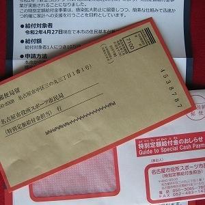 10万円特別給付金の申請書がとどいたよ!