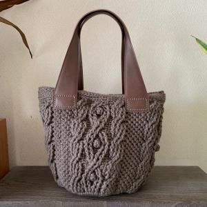 模様編みのバッグ♪