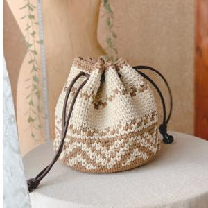 編み込み模様のバッグはやっぱりかわいい!