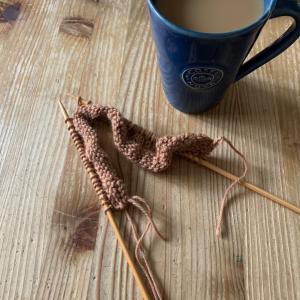棒針編みの進み具合は?