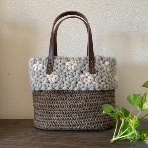 いろんな編み方をしたバッグ♪
