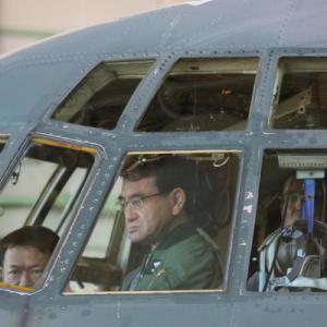河野太郎防衛大臣が航空自衛隊小牧基地を視察