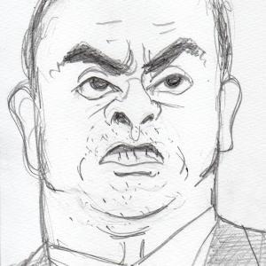 似顔絵 カルロス ゴーン