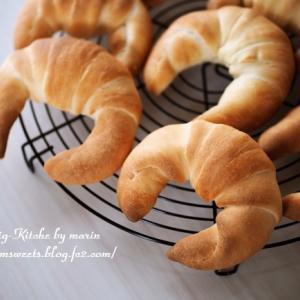 三日月パン、湯種食パン、余り生地クッキー