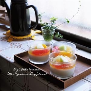 『副反応と作り置き』動画・成城石井の杏仁豆腐レシピ