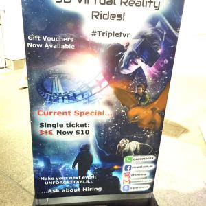 息子、ロケットに乗って出発 ↑ 9D Virtual Reality Rides!