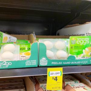スーパーで、ゆで卵売り出したわ!