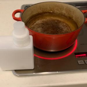 掃除洗濯と、ルクルーゼ鍋の焦げ取り