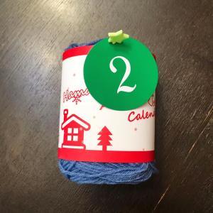 Day:2「クリスマスホーリー(柊)の青い実(513)」ハマナカアドベントカレンダー2020