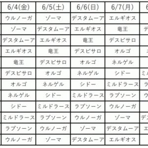 35th紋章狙いタイムテーブル