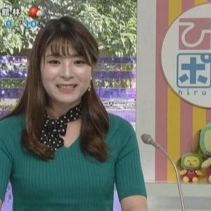 【群馬テレビ】小此木佑香アナムチムチニット巨乳がどアップで!【ひるポチッ・ジャスト6・eye8】