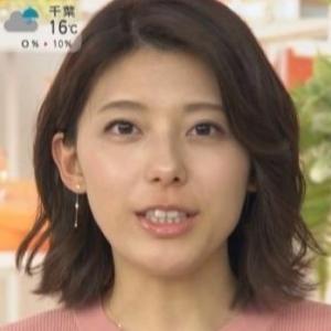 【S☆1】TBS上村彩子アナが同じ色のクビレニットでムチムチ横乳!【はやドキ代打】