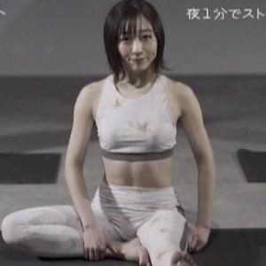【フィンク1分フィット】須田亜香里が柔軟ボディでヨガフィットネス!【鍛えられた腹筋・横乳・美尻】