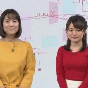 【ひるまえほっと】松尾衣里子キャスターのムチムチクビレニットが巨乳化!?