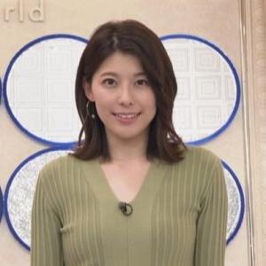 【S☆1】TBS上村彩子アナのムチムチクビレニットがたまらない!?【スーパーサッカー】