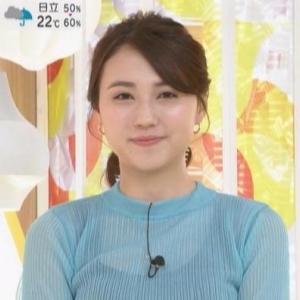 【はやドキ】TBS山形純菜アナのムチムチインナー透けニット【皆川玲奈アナもクビレニット!】
