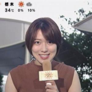 【めざましテレビ】阿部華也子アナのムチムチクビレニットときどきノースリ天気予報!【ふくらみも?】