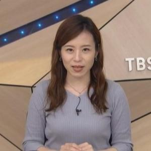 【TBSニュース】河野千秋・壽老麻衣アナムチムチクビレニットでおじぎテーブルのせ【早起き】