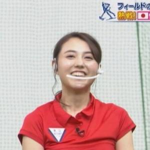 【東京VICTORY】TBS山形純菜アナムチムチホッケーミニスカとクビレニット【はやドキ!】