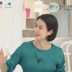 【あさチャン】MC夏目三久・新人野村彩也子アナのムチムチクビレニット【このあとはウチの子です】