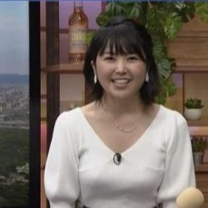 【ニュースきん5時】気象予報士塩見泰子さん待望のムチムチ純白クビレニット巨乳!?【アラサー女子】