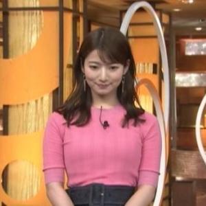 【スポ神】ムチムチクビレニット巨乳の安藤萌々アナ新体操リボンを成功!【サンデーステーション】
