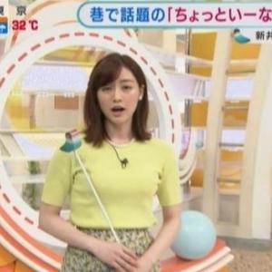 【あら、いーな!】セントフォース新井恵理那アナのアラサームチムチクビレニット【グッドモーニング】