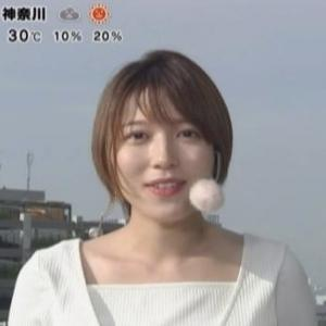 【めざましテレビ】阿部華也子アナ・スタイリストさんの選んだコーデは!?【白のムチムチニット】